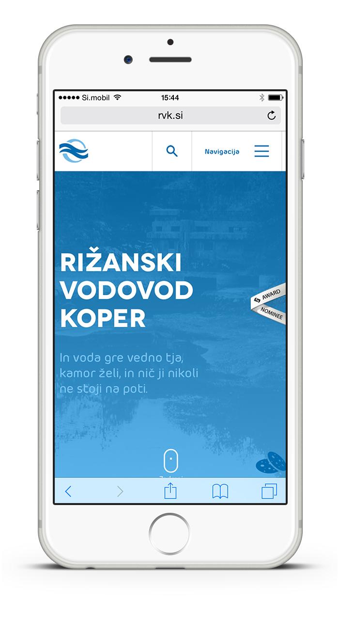 Rižanski Vodovod Koper website