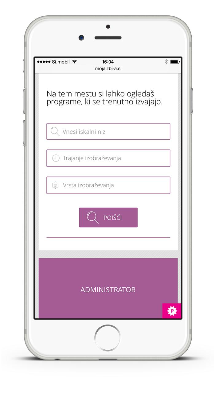 Moja izbira mobile website