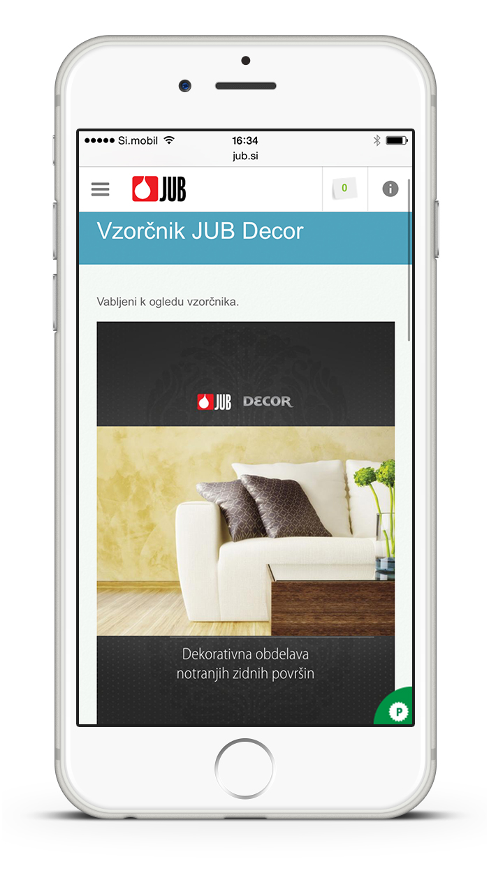 JUB website - responsive design