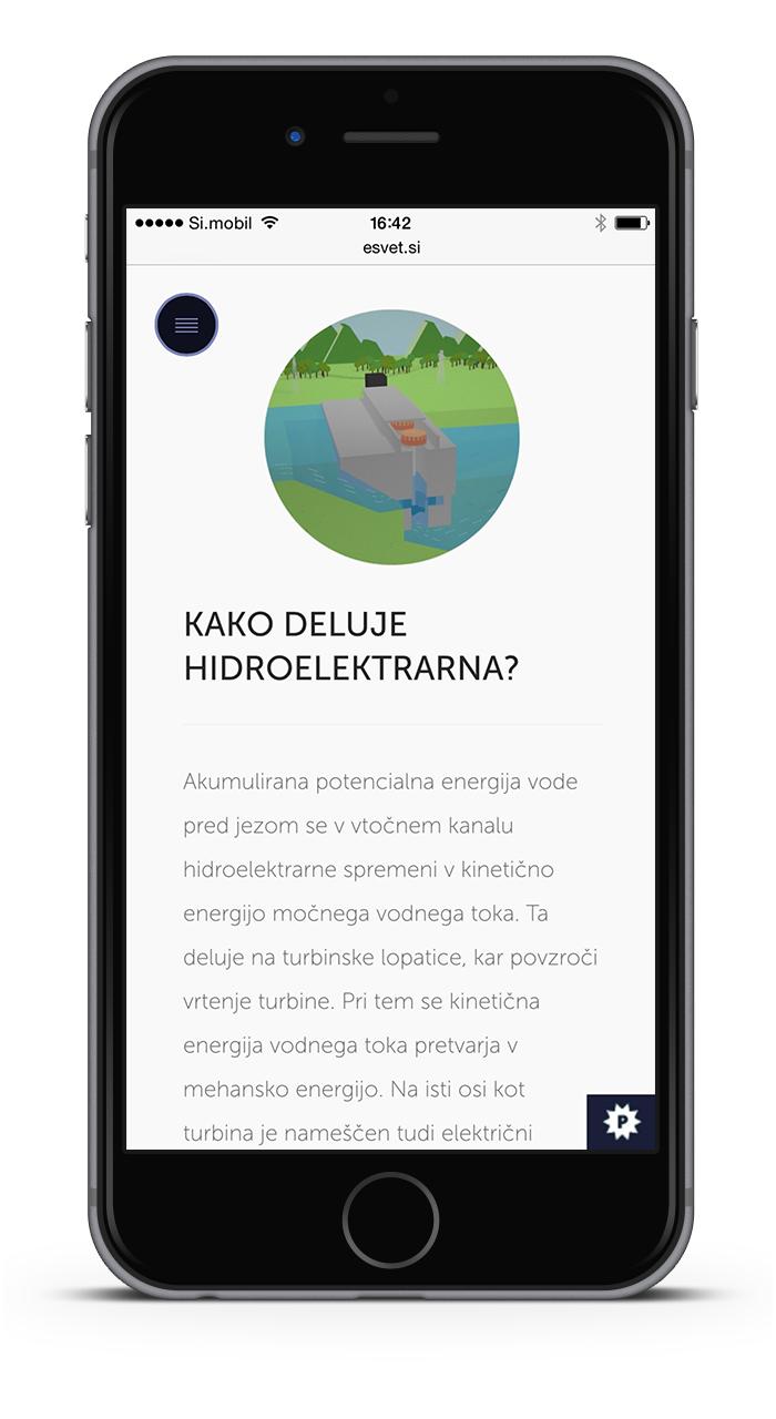 eSvet.si spletna stran mobile