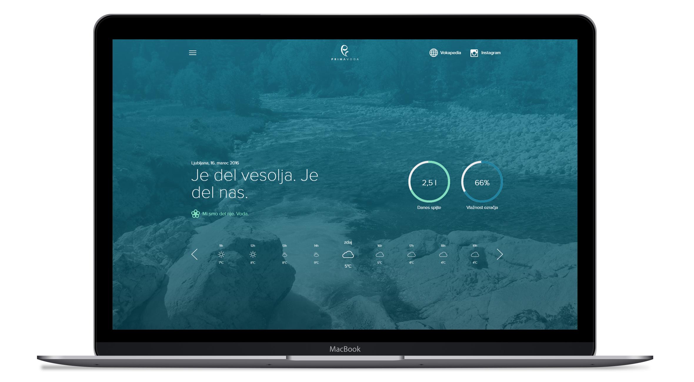 Primavoda homepage